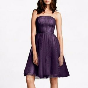 Vera Wang strapless tulle lace dress